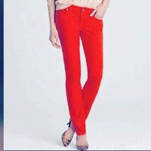 J. Crew Matchstick Red Corduroy Jeans Size 24P